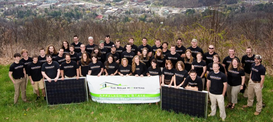 Entire Team Photo at Howard's Knob Overlooking Boone