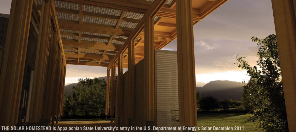 Great Porch and Canopy Rendering at Sunset